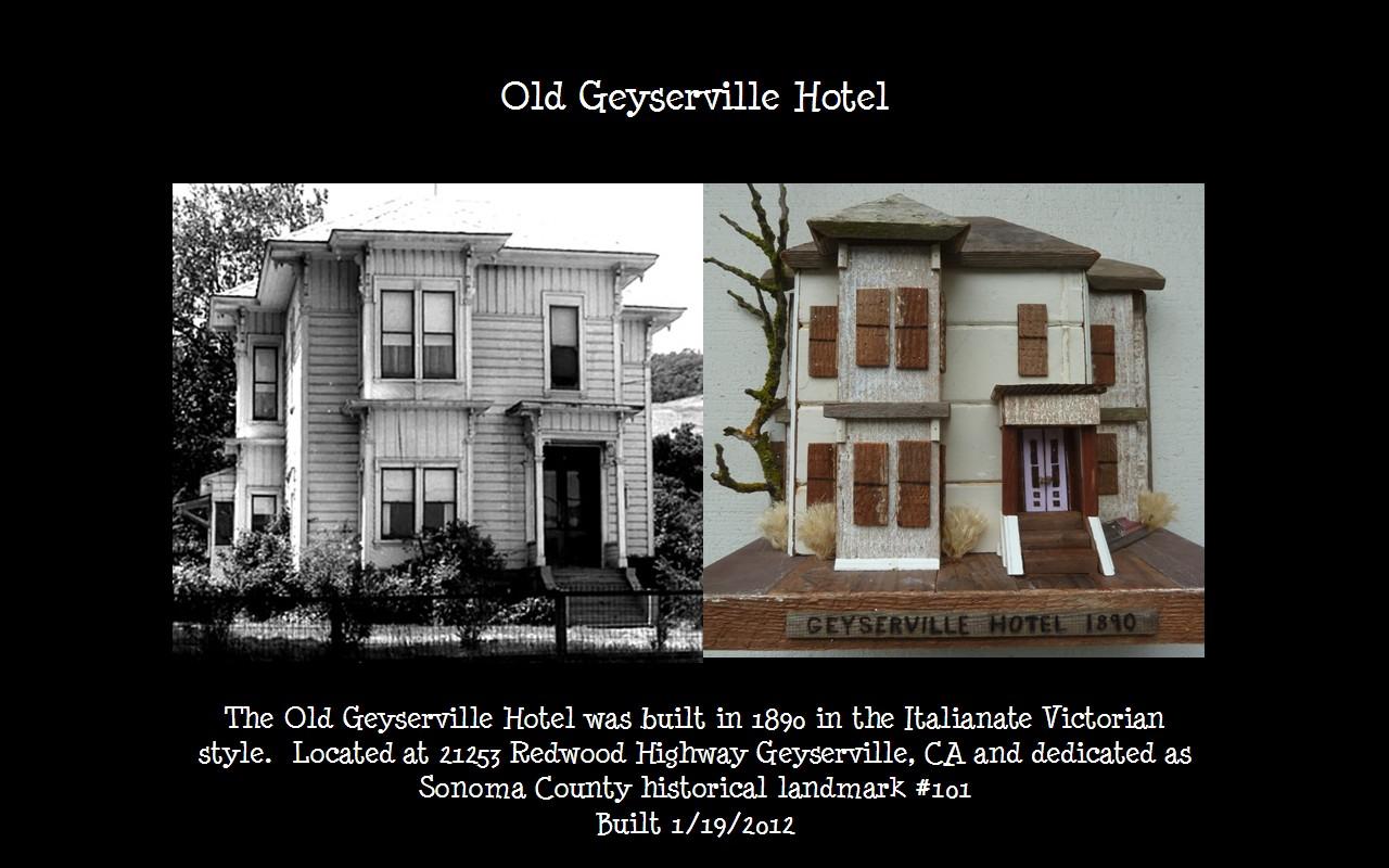Slide Side By Geyserville Hotel 1890